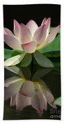 Lovely Lotus Reflection Bath Towel