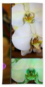 Lovely Orchids - A Collage Bath Towel