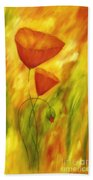 Lovely Poppies Bath Towel