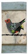 Lovely Song Bird Trio -1 Bath Towel