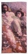 Lovers On The Beach Bath Towel