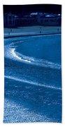 Low Tide In Blue Bath Towel