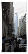 Lower Manhattan And The New World Trade Center Bath Towel