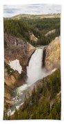 Lower Yellowstone Canyon Falls Bath Towel