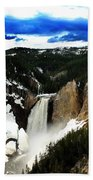Lower Yellowstone Falls Bath Towel