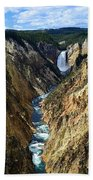 Lower Yellowstone Falls Panorama 2 Bath Towel