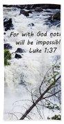 Luke 1 37  Bath Towel