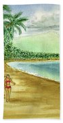 Luquillo Beach And El Yunque Puerto Rico Hand Towel