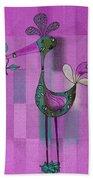 Lutgarde's Bird - 061109106-purple Bath Towel