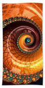Luxe Fractal Spiral Brown And Blue Bath Towel