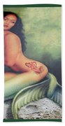 Lydia The Tattooed Mermaid Bath Towel
