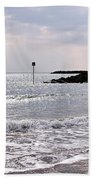 Lyme Regis Seascape - March Bath Towel