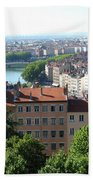 Lyon From Above Bath Towel