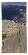 Lysefjord With Prekestolen Bath Towel