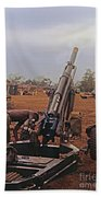 M102 105mm Light Towed Howitzer  2 9th Arty At Lz Oasis R Vietnam 1969 Bath Towel