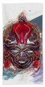 Maasai Mask - The Rain God Ngai Bath Towel