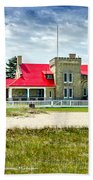 Mackinac Point Lighthouse Michigan Bath Towel