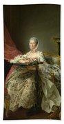Madame De Pompadour At Her Tambour Frame Bath Towel