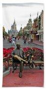 Magic Kingdom Walt Disney World 3 Panel Composite Bath Towel