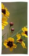 Magical Coreopsis Tinctoria Wildflowers Bath Towel