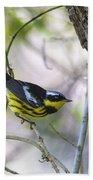 Magnolia Warbler Bath Towel