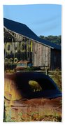 Mail Pouch Barn And Old Cars Bath Towel