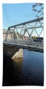 Main Street Bridge Shelbourne Falls  Bath Towel