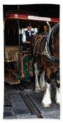Main Street Horse And Trolley Bath Towel