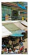 Main Street Marketplace In Tachilek-burma Bath Towel