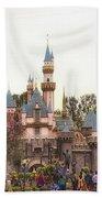 Main Street Sleeping Beauty Castle Disneyland 02 Bath Towel