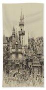 Main Street Sleeping Beauty Castle Disneyland Heirloom 01 Bath Towel