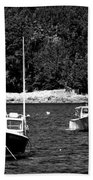 Maine Lobster Boats Bath Towel