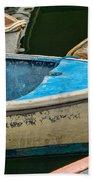 Maine Rowboats Bath Towel