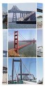 Majestic Bridges Of The San Francisco Bay Area Bath Towel