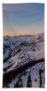Majestic Mount Baker Sunrise Light Bath Towel