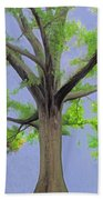 Majestic Tree With Birds Nest Bath Towel