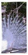 Majestic White Peafowl Bath Towel