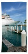 Majesty Of The Seas Docked At Key West Florida Bath Towel
