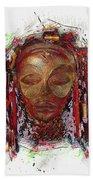 Makonde Mapiko - Lipiko Mask Bath Towel