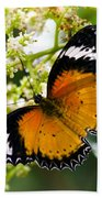 Malay Lacewing Butterfly  Bath Towel