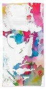 Malcolm X Watercolor Bath Towel