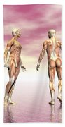Male Muscular System From Four Points Bath Towel