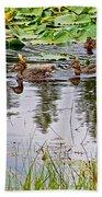 Mallard Ducks In Heron Pond In Grand Teton National Park-wyoming  Bath Towel