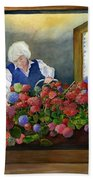 Mama's Window Garden Bath Towel