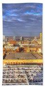 Manchester Skyline Panoramic Hdr Bath Towel