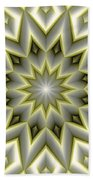 Mandala 107 Yellow Bath Towel