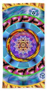 Mandala Wormhole 101 Bath Towel by Derek Gedney