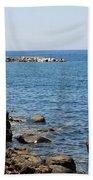 Mandraki Coastline Nisyros Bath Towel