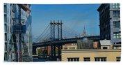 Manhattan Bridge From Brooklyn Bath Towel