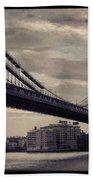 Manhattan Bridge In Ny Bath Towel